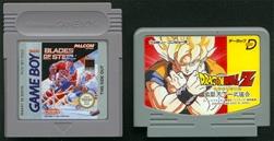 Comparação entre um cartucho de GB e o cartucho de Tenkaichi Budokai p/ NES DATACH