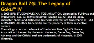 Legacy of Goku IV - ATARI site