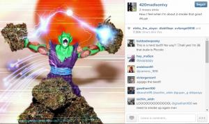 Piccolo mostrando a fonte do seu poder